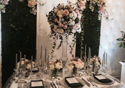 aranjament masa flori curgatoare nunta wedding show cluj
