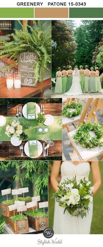 trend culoare verde flori nunta