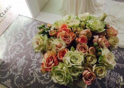 buchet mireasa flori verzi roz nunta wedding show 2017
