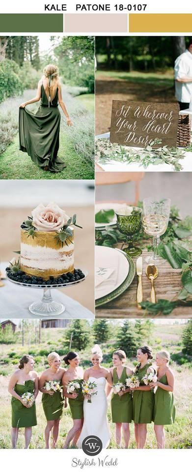 trend culoare verde nunta 2017
