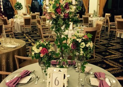 aranjament masa flori lungi nunta wedding show 2017