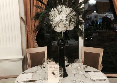 aranjament floral inalt pe masa original nunta wedding show 2017 cluj