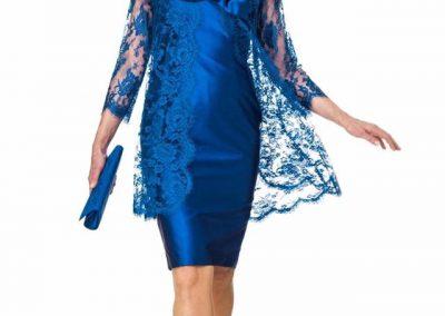 rochie albastra lucioasa nunta mama mame