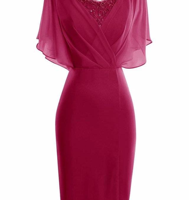rochie rosie lunga nunta pentru mama mame