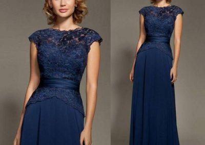 rochie albastra lunga nunta pentru mama mame